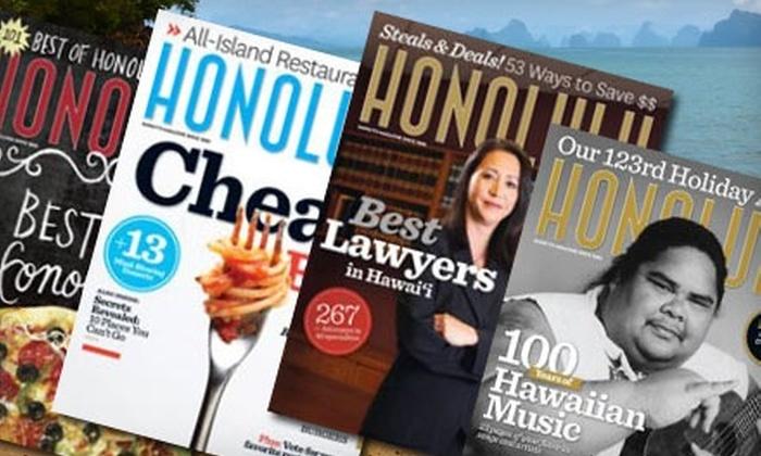 """""""HONOLULU"""" Magazine - Honolulu: $10 for a One-Year Subscription to """"HONOLULU Magazine"""" ($20 Value)"""