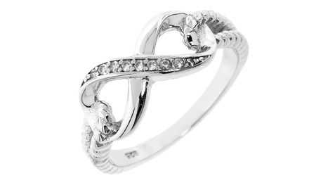 Sterling Silver Twist Infinity Design Ring