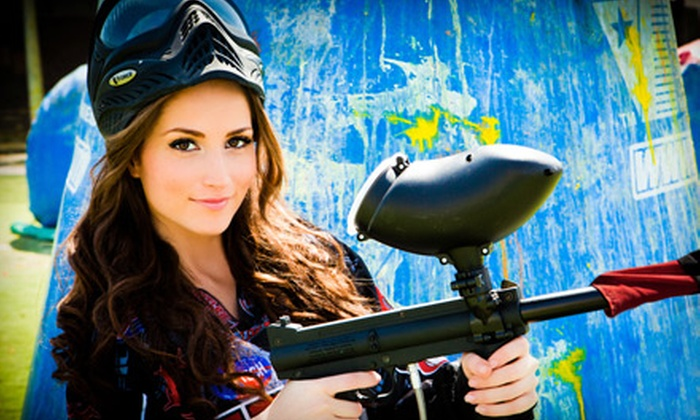 Paintball International - Multiple Locations: All-Day Paintball Package for 4, 8, or 12 with Equipment Rental at Paintball International (Up to 82% Off)