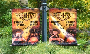 Elitch Gardens: Two or Four Single-Day Fright Fest: Alive! Tickets Plus Parking at Elitch Gardens (Up to 27% Off)