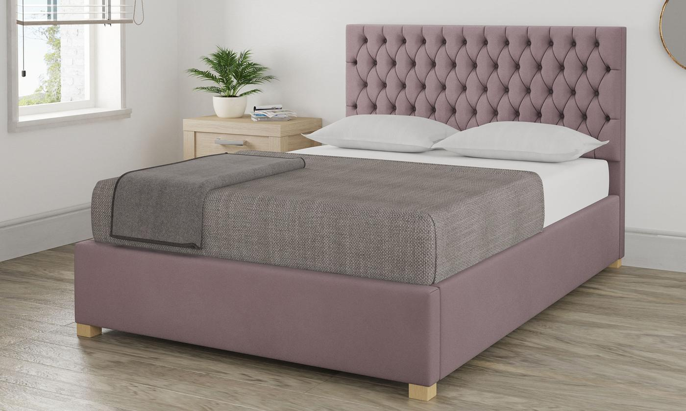 Angel Plush Velvet Ottoman Bed with Optional Mattress (£795)
