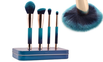 $14.95 for a Four Piece Magnetic Make Up Brush Set with a Metal Case