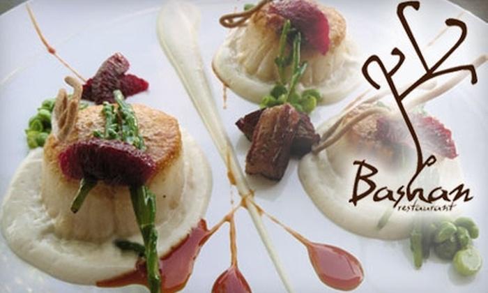 Bashan Restaurant - Montecito Park: $25 for $50 of New American Cuisine and Drinks at Bashan Restaurant