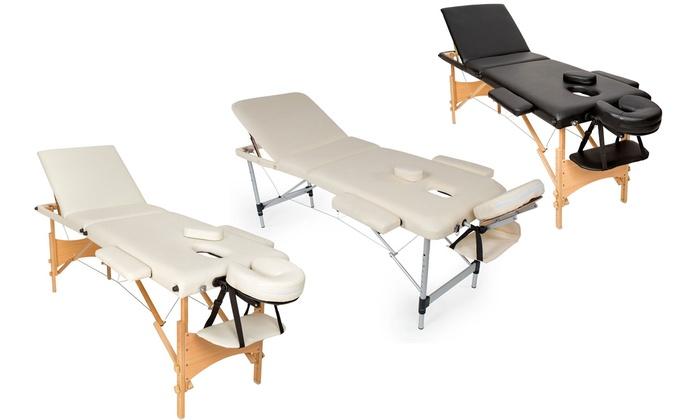 Lettino Massaggio Groupon.Lettino Per Massaggi Disponibile In Legno O In Alluminio In 3 Colori A 99 17 Di Sconto