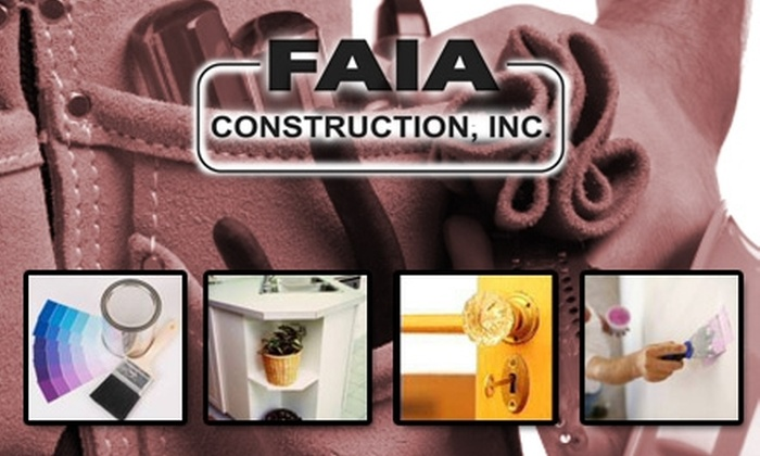 Faia Construction - New Orleans: $45 for One Hour of Home or Office Repair from Faia Construction ($90 Value)