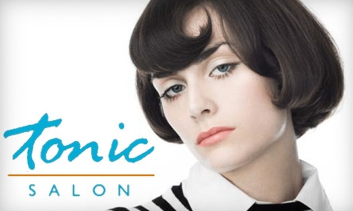 Tonic Salon - Multiple Locations: $25 for a Cut and Choice of Deep-Conditioning Treatment or Color Gloss at Tonic Salon (Up to $120 Value)