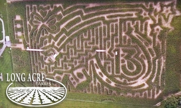 Long Acre Farms - Macedon: $10 for Two Tickets to the Amazing Maize Maze at Long Acre Farms in Macedon (Up to $20 Value)