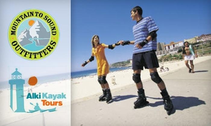Alki Kayak - North Admiral: $10 for Four Hours of Quad or Inline Skate Rental at Alki Kayak ($20 Value)
