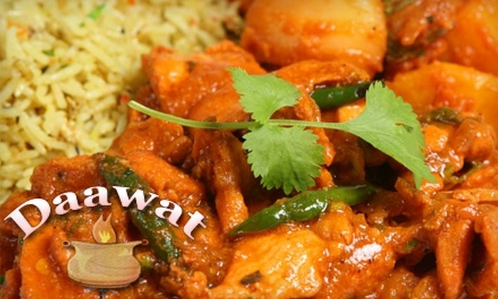 Daawat - Multiple Locations: $20 for $40 Worth of East Indian Cuisine and Drinks at Daawat