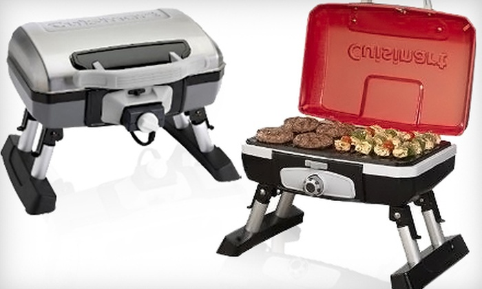 Cuisinart Tabletop Grills: Cuisinart CGG-180T Portable Tabletop Gas Grill or Cuisinart CEG-980T Outdoor Electric Tabletop Grill from Groupon Goods (Up to 37% Off)