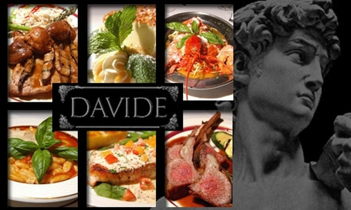 Davide - North End: $20 for $40 Worth of Italian Cuisine at Davide