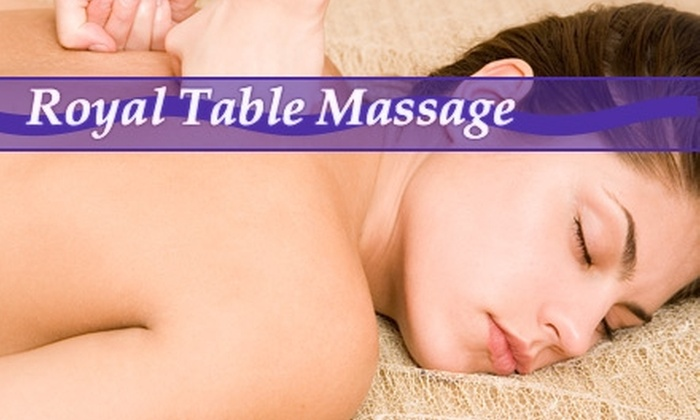 Royal Table Massage - Multiple Locations: 57% Off Your Choice of Massage at Royal Table Massage. Choose from Two Options.