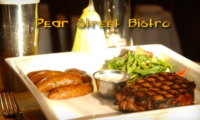Pear Street Bistro - Pinole: 10 for $20 Worth of Eclectic American Cuisine and Drinks at Pear Street Bistro in Pinole