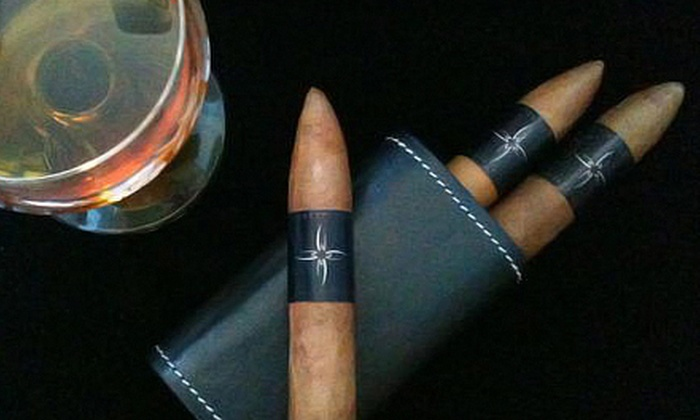Maraya Cigar - Downtown,Lower East Side,Chinatown: $129 for a Cigar-Enthusiast Package with Three Cigars, Gift Certificates, Cigar Lighter with Built-In Cutter, and Personal Humidor at Maraya Cigar ($264 Value)
