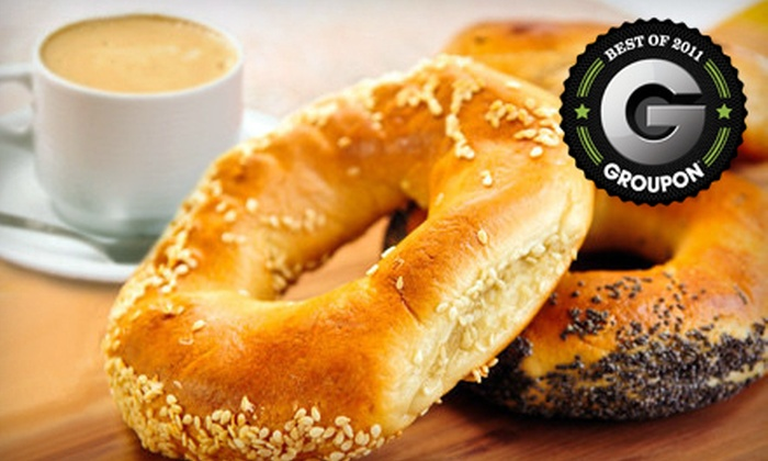 Kettleman's Bagel Co. - Orleans: Two Bagels with Two Premium Coffee Drinks or 10-Coffee Punch Card at Kettleman's Bagel Co. in Orleans (Up to 52% Off)