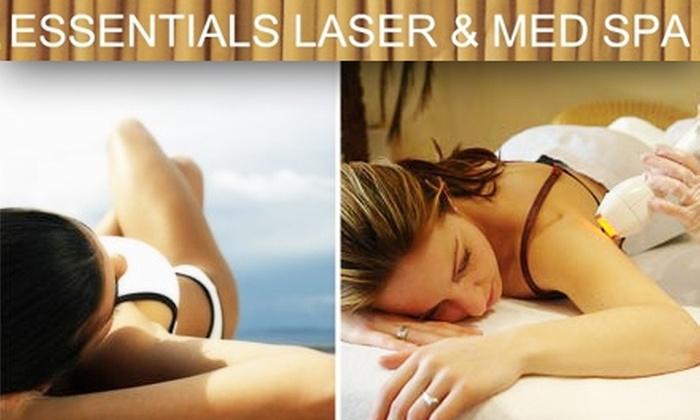 Essentials Laser & Med Spa - Brockton: $125 for 3 Laser Hair-Removal Treatments from Essentials Laser & Med Spa ($375 Value)