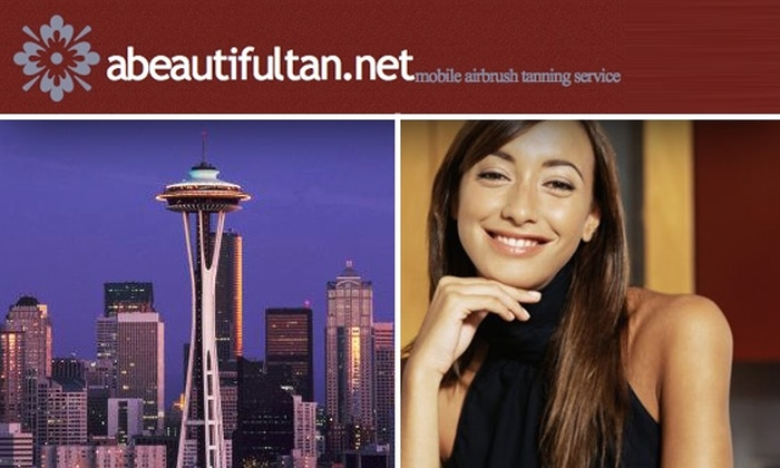 A Beautiful Tan - Seattle: Full-Body, Professionally Applied, In-Home Airbrush Tan from A Beautiful Tan