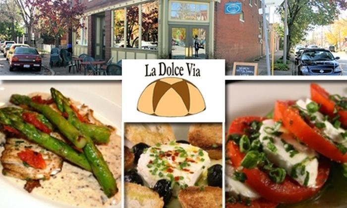 La Dolce Via  - Forest Park Southeast: $15 for $35 Worth of Italian Cuisine at La Dolce Via