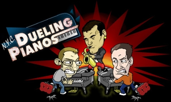 NYC Dueling Pianos - Theater District - Times Square: $25 for Two Tickets and Two Drinks ($60 Value) or $10 for One Ticket ($20 Value) to NYC Dueling Piano Show at The Midtown Theatre @ HA! Comedy Club
