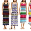 Just Love Racerback Striped Printed Maxi Dress