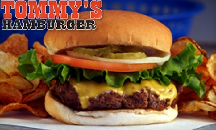 Tommy's Hamburgers - Multiple Locations: $5 for $10 Worth of Burgers, Salads, and More at Tommy's Hamburgers