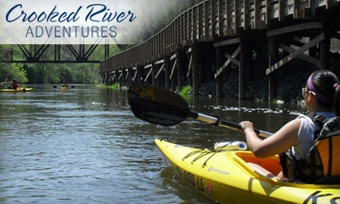 Crooked River Adventures - Kent: Canoe or Kayak Excursion on the Cuyahoga from Crooked River Adventures in Kent. Choose from Two Trips.