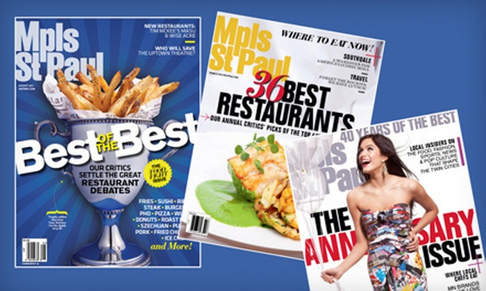 """Mpls.St.Paul Magazine"" - Minneapolis / St Paul: $10 for a One-Year Subscription to ""Mpls.St.Paul Magazine"" ($19.95 Value)"