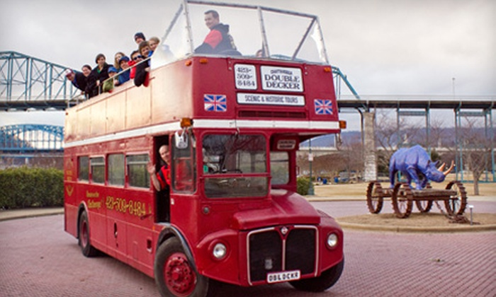 Chattanooga Double Decker - Downtown Chattanooga: $20 for a Ruby Red Christmas Tour for Two from Chattanooga Double Decker (Up to $40 Value)