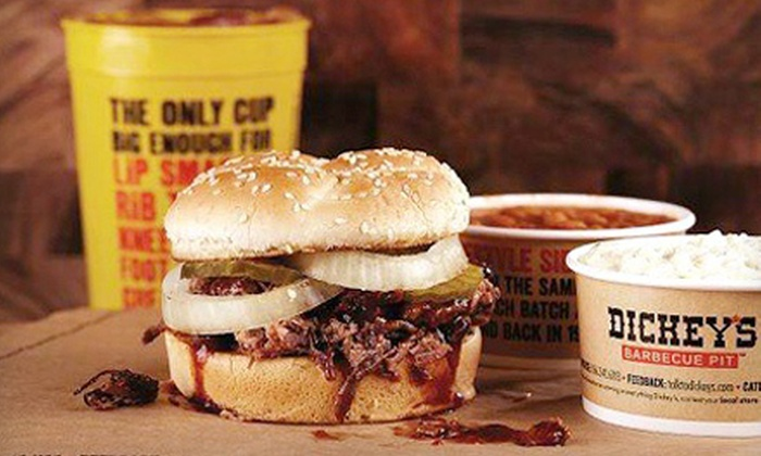Dickey's Barbecue Pit - Warner Robins: Barbecue, Sides, Drinks, and Dessert at Dickey's Barbecue Pit (Half Off). Three Options Available.