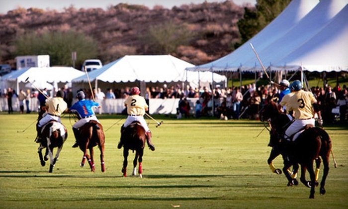 Scottsdale Polo Championships Horses & Horsepower - North Scottsdale: The Polo Party for Two or Four or Tailgating Pass at Westworld of Scottsdale's Polo Field on Saturday, October 20 (Up to 70% Off)