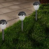 Pure Garden LED Solar Glass Pathway Lights