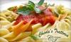 Chiodas Trattoria - Franklin Plantation: $10 for $20 Worth of Italian Dinner Fare at Chioda's Trattoria