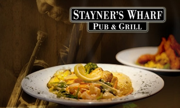 Stayner's Wharf Pub & Grill - Downtown Halifax: Seafood and More at Stayner's Wharf Pub & Grill. Choose Between Two Options.