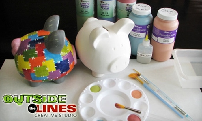 Outside the Lines Creative Studio - Northwest Columbus: $10 for $20 Worth of Pottery Painting, Classes, and More at Outside the Lines Creative Studio in Hilliard