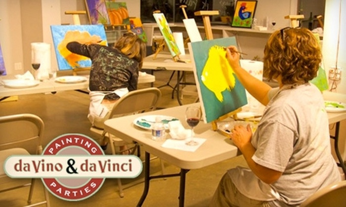 daVino & daVinci Painting Parties - Johnson City: $20 for a daVino and daVinci Painting Class in Johnson City ($45 Value)