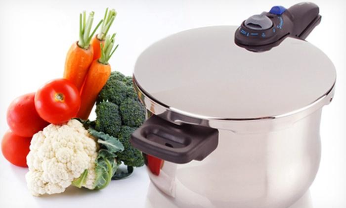 Pressure Cooker: $25 for a Sunbeam Chef Pronto 6-Quart Aluminum Pressure Cooker ($49.99 Value)