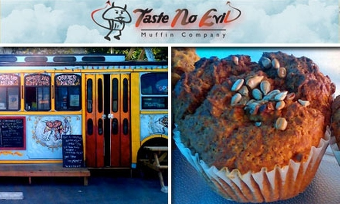 Taste No Evil Muffin Company - Austin: $12 for a Dozen Guilt-Free Muffins From Taste No Evil Muffin Company ($25 Value)