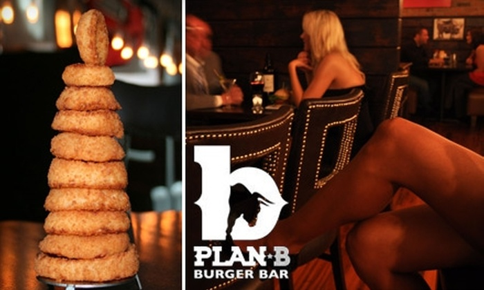 Plan B Burger Bar - Multiple Locations: $8 for $16 Worth of Food and Drinks at Plan B Burger Bar