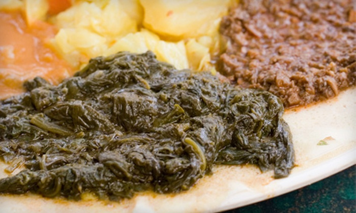Zemam's - El Encanto: Ethiopian Meal for Two or Four at Zemam's (Up to 54% Off)