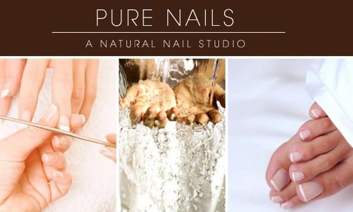 Pure Nails - Zilker: $35 for Mani-Pedi at Pure Nails Natural Nail Studio