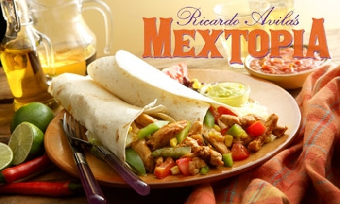 Mextopia - Lower Greenville: $15 for $30 Worth of Mexican Fare at Mextopia
