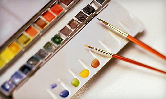 Bear White Studios - Davisburg: Two Watercolor Classes or Four Watercolor/Watermedia Classes at Bear White Studios in Davisburg