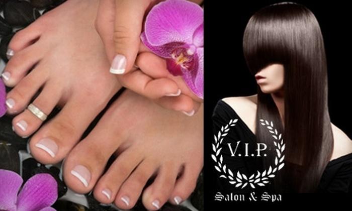 VIP Salon and Spa - Riverview: $30 for a Mani-Pedi or a Keratin Brazilian Blowout at VIP Salon and Spa ($60 Value)