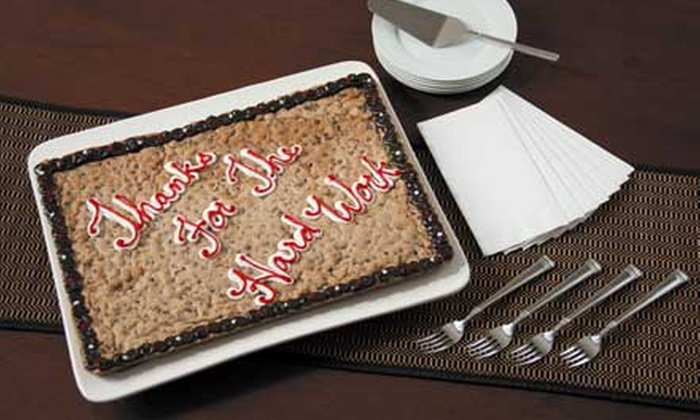 Mrs. Fields Cookies - Coral Ridge Country Club Estates: 16-Inch or Half-Sheet Cookie Cake From Mrs. Fields Cookies