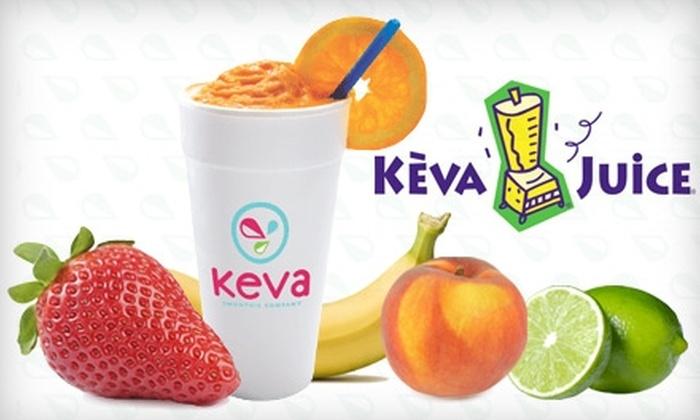 Keva Juice - Coronado Area: $5 for $12 Worth of Fresh-Fruit Smoothies and More at Keva Juice
