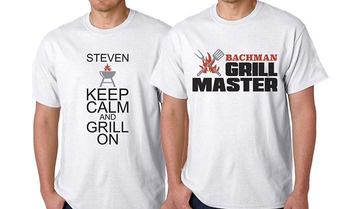"Monogram Online: $14.99 for a Personalized ""Grill Master"" T-Shirt from Monogram Online ($39.99 Value)"