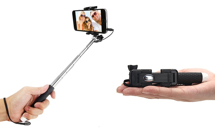 LITE Handheld Expandable Pocket Sized Wired Selfie-Stick Monopod