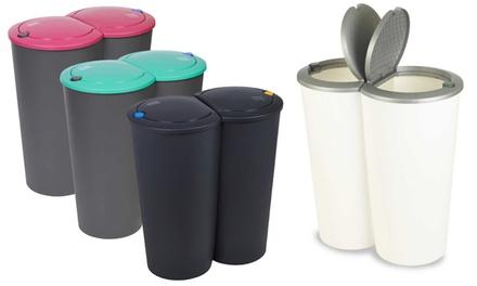 Double Recycling Waste Bin