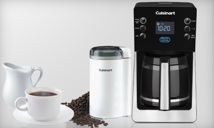 Cuisinart Coffeemaker and Grinder: $99 for a Cuisinart Perfec Temp 14-Cup Programmable Coffeemaker and Coffee Grinder ($225 List Price). Free Shipping.