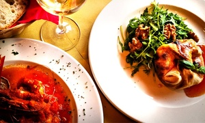 Wallace's Winebars: Two-Course Italian Meal with Prosecco for Two at Asti (Up to 49% Off)